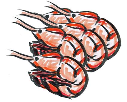 Many prawns