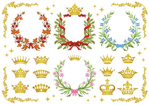 王冠とリースのセット
