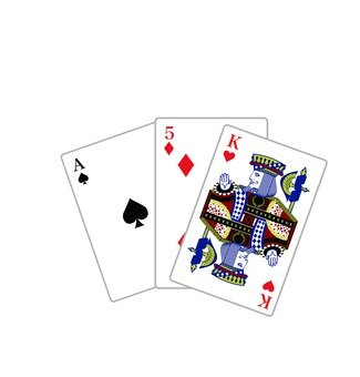Multiple playing cards