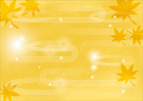 Background _ and wave line _ yellow 2