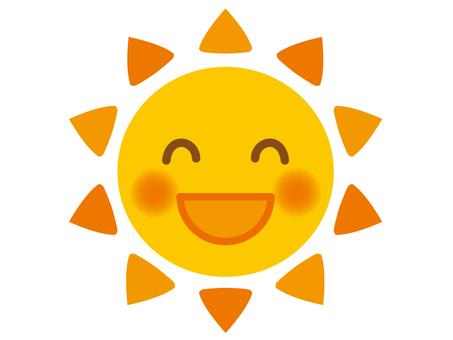 Illustration 2 of the smiling sun (orange)