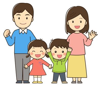 Illustration of a family of four _ 01
