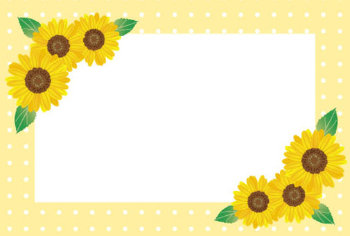 Sunflower dot card Orange