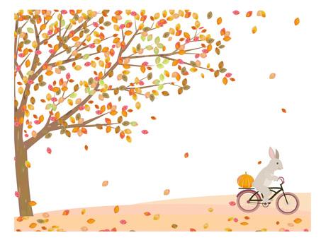 サイクリング 紅葉