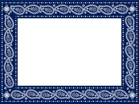 Paisley Frame Blue