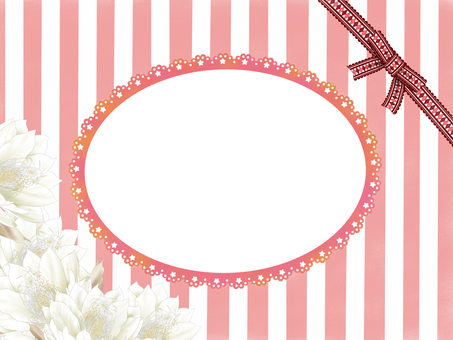 Maiden ribbon frame with pink stripe