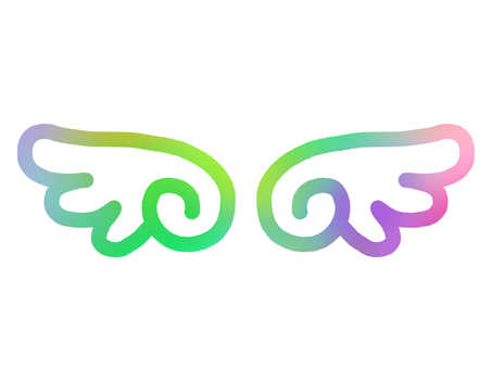 Rainbow rainbow colored seven colors feather wing flying angel bird