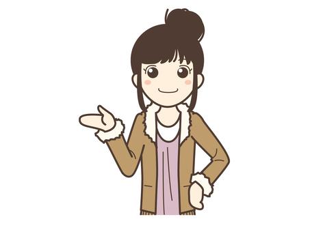A016_ Woman in plain clothes
