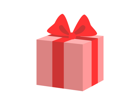Present (pink box and red ribbon)