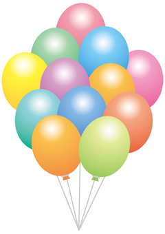 Pastel color balloon bunch ☆ for events ☆
