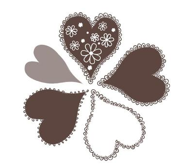 Heart with brown lace