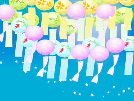 Wind chimes background
