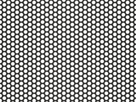 Punching panel wallpaper (45px round hole / black)
