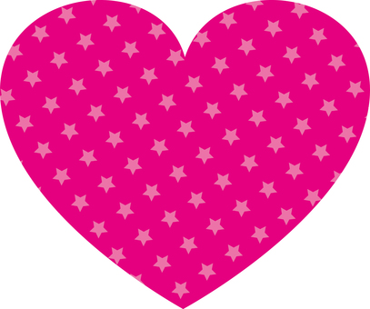 Star Pattern Heart (Pink)