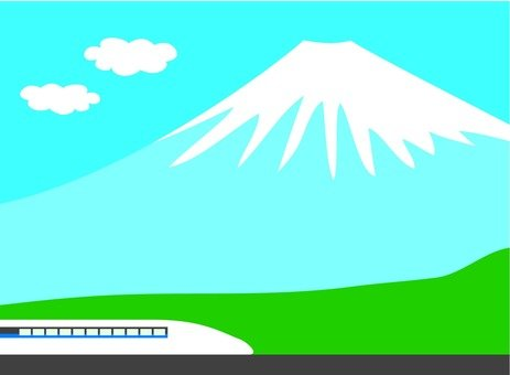 Mount Fuji and the bullet train