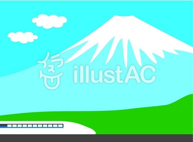 富士山と新幹線イラスト No 85335無料イラストならイラストac