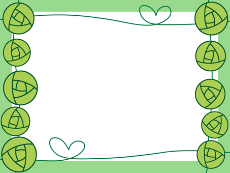 Rose and heart frame