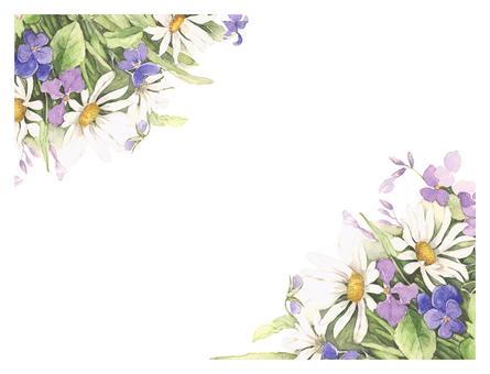 Background letter Refreshing letter frame