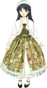 A girl in a country dress
