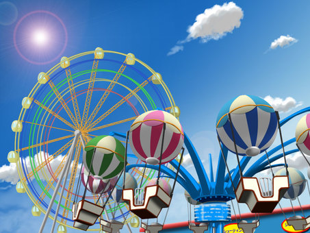 Amusement park in daytime