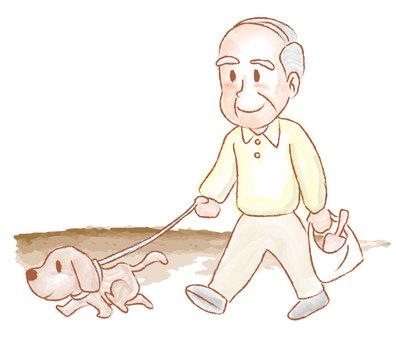 高齢者ペット散歩