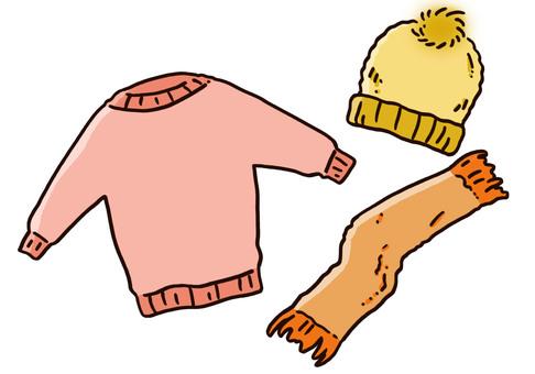 Sweater hat muffler 3