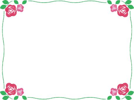 Rose frame pink