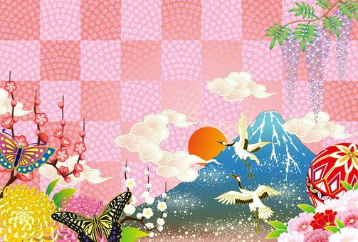 일본의 일출 새해 풍경