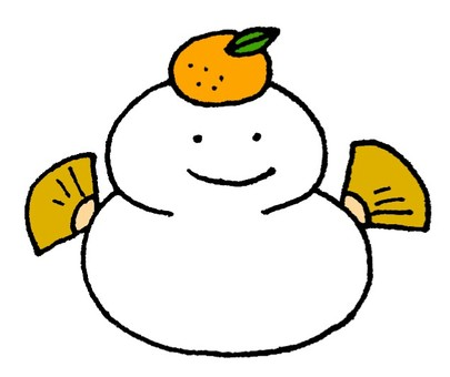 Mirror rice snowman
