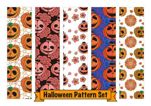 Halloween pattern 5 types