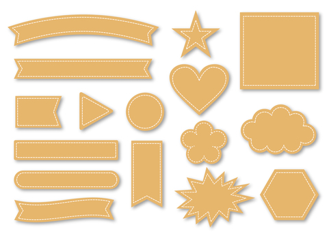 Title Ribbon collection _ Beige