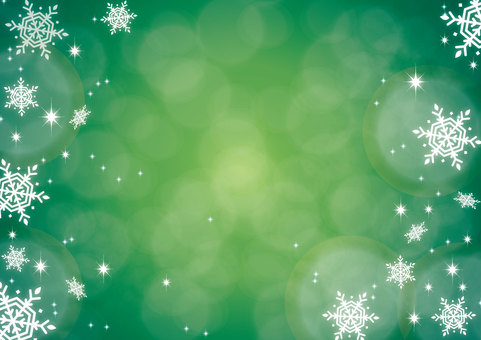 Glittering background green Christmas