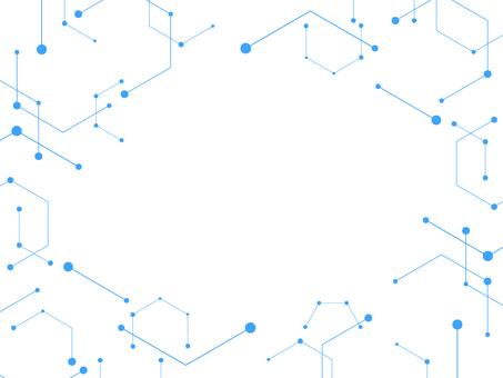 Geometric background frame blue