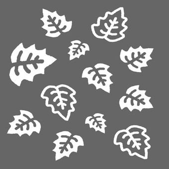 Leaf pattern gray