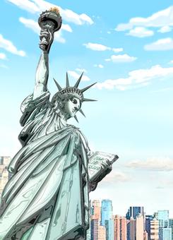 Metal Statue of Liberty