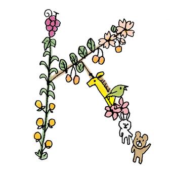 Flower text K