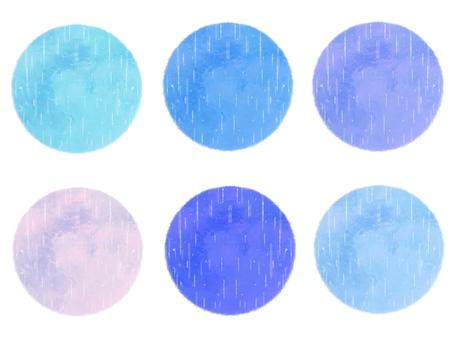 アイコン、円形、雨風