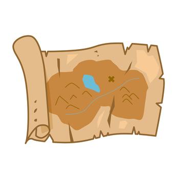 Treasure map style