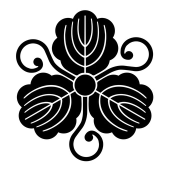 柏 丸 蔓 柏 家 Japanese family crest