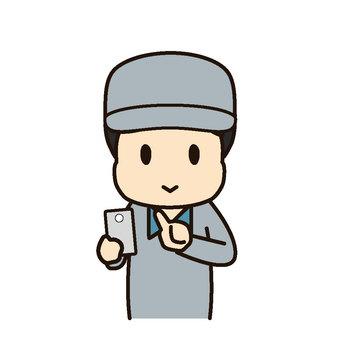 Working wear male smartphone