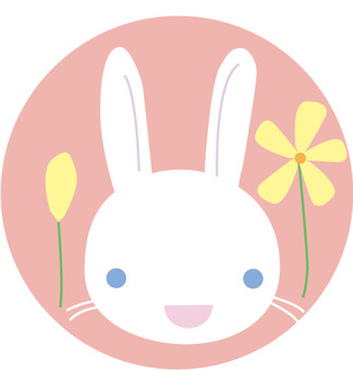 Usagi and flower illustration