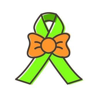 Decorated ribbon (green)
