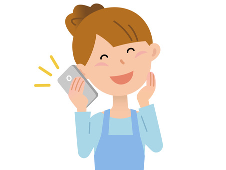 60410. Female apron, smartphone 2