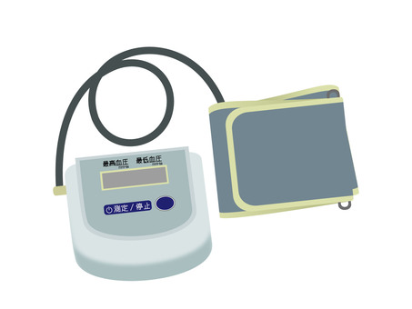 Home use sphygmomanometer without color line