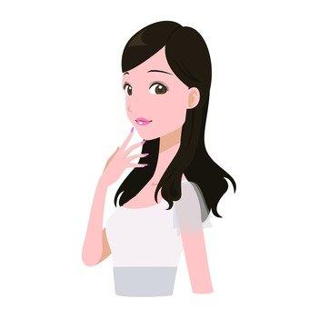 Woman sending a gaze 2