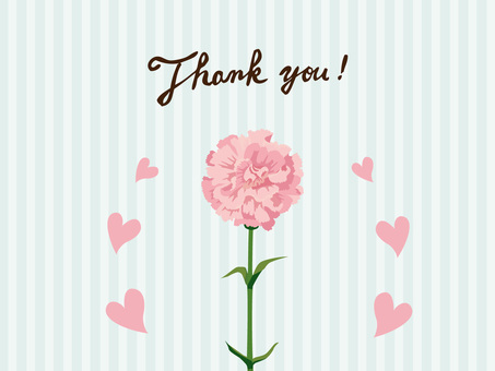 Mother's Day Carnation's Thank You Card 4