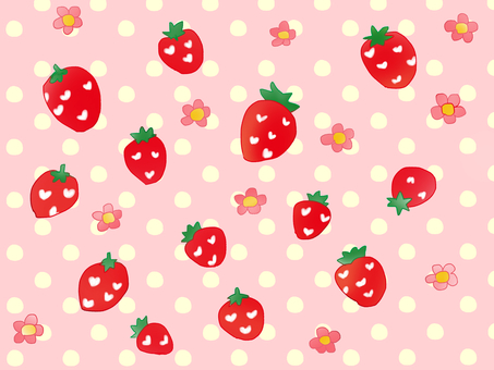 Strawberry fluffy polka dots