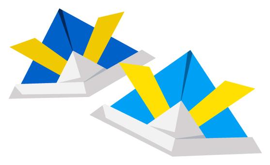 종이 접기로 만든 투구 3