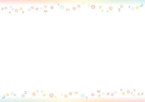 花和蝴蝶框架
