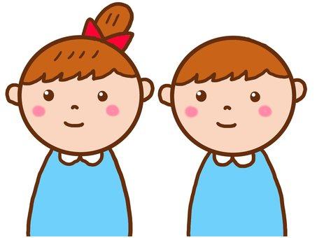 Kindergarten child nursery school children and men
